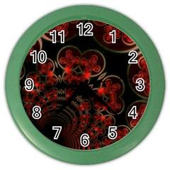 Phenomenon, Orange Gold Cosmic Explosion Wall Clock (color)