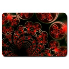 Phenomenon, Orange Gold Cosmic Explosion Large Door Mat