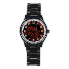 Phenomenon, Orange Gold Cosmic Explosion Sport Metal Watch (Black)