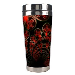 Phenomenon, Orange Gold Cosmic Explosion Stainless Steel Travel Tumbler