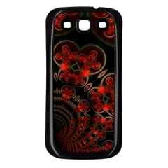Phenomenon, Orange Gold Cosmic Explosion Samsung Galaxy S3 Back Case (black)