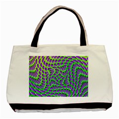 Illusion Delusion Twin-sided Black Tote Bag