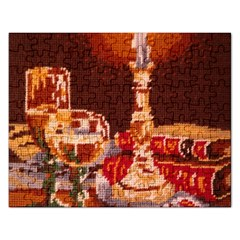 Bookworm Needlepoint Print Jigsaw Puzzle (rectangle)