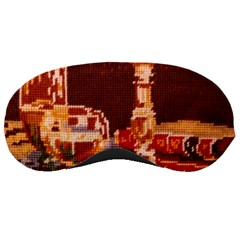 Bookworm Needlepoint Print Sleeping Mask