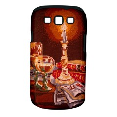 Bookworm Needlepoint Print Samsung Galaxy S III Classic Hardshell Case (PC+Silicone)