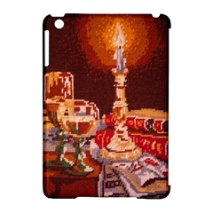 Bookworm Needlepoint Print Apple Ipad Mini Hardshell Case (compatible With Smart Cover)