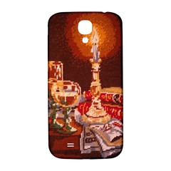 Bookworm Needlepoint Print Samsung Galaxy S4 I9500/i9505  Hardshell Back Case