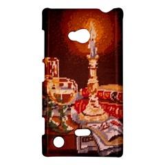 Bookworm Needlepoint Print Nokia Lumia 720 Hardshell Case
