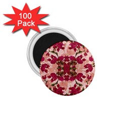 Retro Vintage Floral Motif 1 75  Button Magnet (100 Pack)