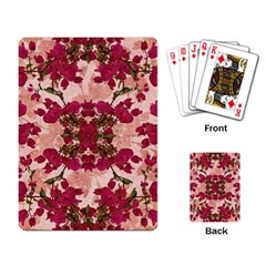 Retro Vintage Floral Motif Playing Cards Single Design