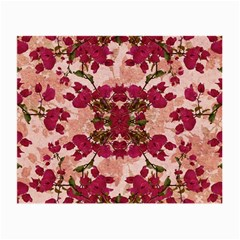 Retro Vintage Floral Motif Glasses Cloth (Small, Two Sided)