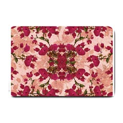 Retro Vintage Floral Motif Small Door Mat