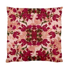 Retro Vintage Floral Motif Cushion Case (Two Sided)