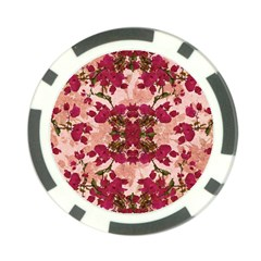 Retro Vintage Floral Motif Poker Chip (10 Pack)