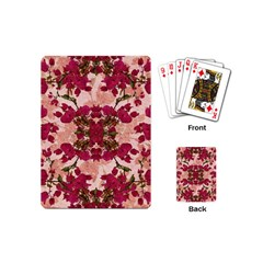 Retro Vintage Floral Motif Playing Cards (Mini)