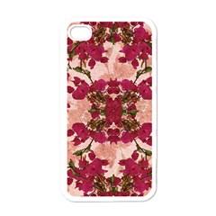 Retro Vintage Floral Motif Apple Iphone 4 Case (white)