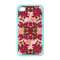 Retro Vintage Floral Motif Apple Iphone 4 Case (color)