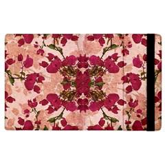 Retro Vintage Floral Motif Apple iPad 3/4 Flip Case
