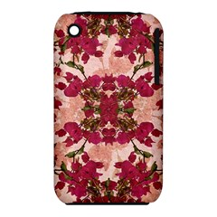 Retro Vintage Floral Motif Apple iPhone 3G/3GS Hardshell Case (PC+Silicone)