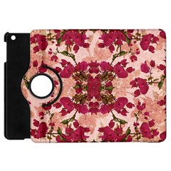 Retro Vintage Floral Motif Apple Ipad Mini Flip 360 Case