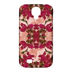 Retro Vintage Floral Motif Samsung Galaxy S4 Classic Hardshell Case (PC+Silicone)