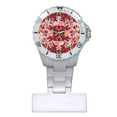 Retro Vintage Floral Motif Nurses Watch
