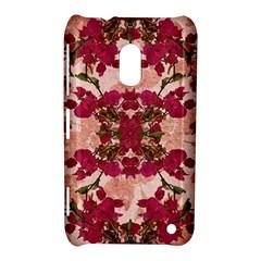 Retro Vintage Floral Motif Nokia Lumia 620 Hardshell Case