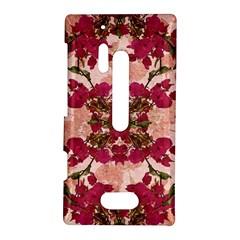 Retro Vintage Floral Motif Nokia Lumia 928 Hardshell Case