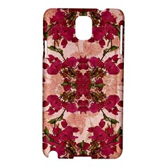 Retro Vintage Floral Motif Samsung Galaxy Note 3 N9005 Hardshell Case