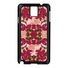 Retro Vintage Floral Motif Samsung Galaxy Note 3 N9005 Case (Black)