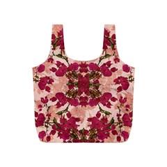 Retro Vintage Floral Motif Reusable Bag (S)