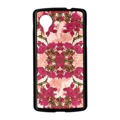 Retro Vintage Floral Motif Google Nexus 5 Case (Black)