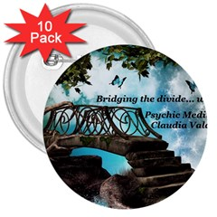 Psychic Medium Claudia 3  Button (10 Pack)