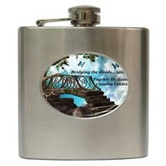 Psychic Medium Claudia Hip Flask