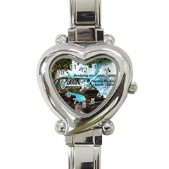 Psychic Medium Claudia Heart Italian Charm Watch