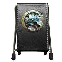 Psychic Medium Claudia Stationery Holder Clock