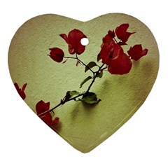 Santa Rita Flower In Warm Colors Wall Photo Ornament (heart)