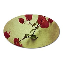 Santa Rita Flower In Warm Colors Wall Photo Magnet (oval)