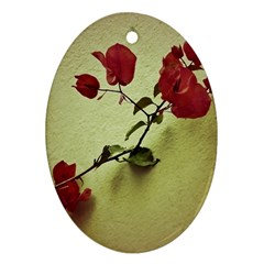 Santa Rita Flower Oval Ornament (Two Sides)