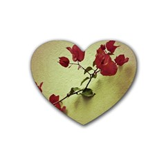 Santa Rita Flower Drink Coasters 4 Pack (Heart)