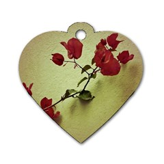 Santa Rita Flower Dog Tag Heart (Two Sided)
