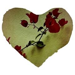 Santa Rita Flower 19  Premium Heart Shape Cushion