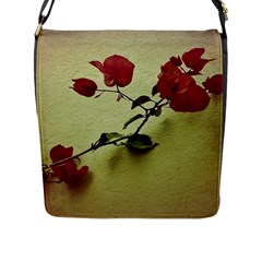 Santa Rita Flower Flap Closure Messenger Bag (Large)