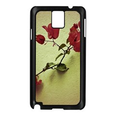 Santa Rita Flower Samsung Galaxy Note 3 N9005 Case (Black)