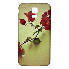 Santa Rita Flower Samsung Galaxy S5 Back Case (White)