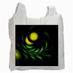 Artichoke White Reusable Bag (One Side)
