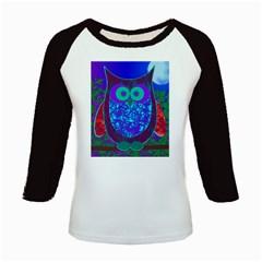 Moon Owl Kids Long Cap Sleeve T-Shirt