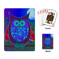 Moon Owl Playing Cards Single Design