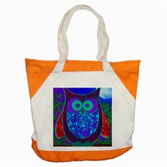 Moon Owl Accent Tote Bag