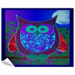 Moon Owl Canvas 11  X 14  (unframed)